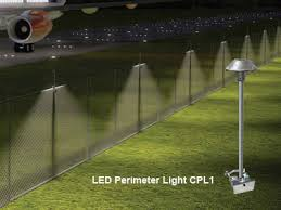 solar lights for chain link fence cast lighting perimeter security hoover fence company chain link