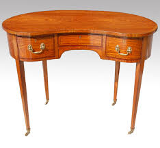 Kidney Shaped Writing Desk by Satinwood Kidney Shaped Desk Dressing Table Antiques Atlas