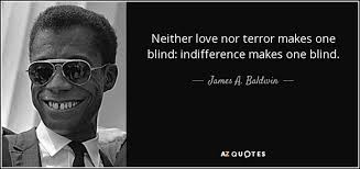 Blind Terror James A Baldwin Quote Neither Love Nor Terror Makes One Blind