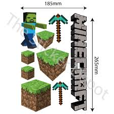 Minecraft Bedroom Decals by Minecraft Wall Safe Movable Wall Sticker Stickerdepot Com Au