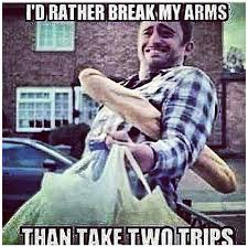 How To Make A Meme With Two Pictures - i d rather break my arms than make two trips