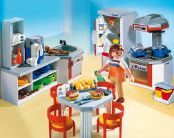 kidkraft modern country kitchen 53222 amazon com playmobil kitchen with dinnette set toys u0026 games