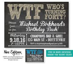 40th birthday party invitation who u0027s turning forty