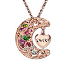 mothers pendants with birthstones gold color pendant birthstones necklace you to