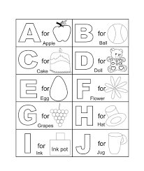 abc coloring worksheets for kindergarten printable coloring sheets