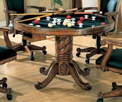three in one chestnut poker bumper pool dining table poker