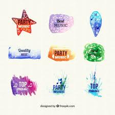 imagenes logos musicales colección de logos musicales abstractos descargar vectores gratis