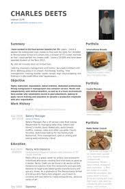 Food Service Resume Examples by Baker Resume Samples Visualcv Resume Samples Database