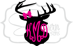 bow monogram deer and bow monogram sew southern designs