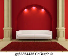 drawings red lips couch and light stock illustration gg55344162