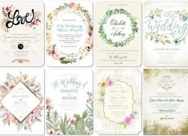 wedding invitations floral wedding invitations deer pearl flowers