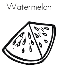 slice watermelon sliced watermelon fruit coloring pages sesame