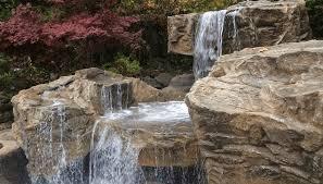 Waterfall For Backyard by Custom Pool Waterfalls Water Features Ponds U0026 Backyard