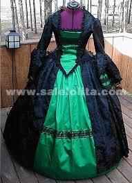 long sleeved green mopping civil war era ball gown ball gown