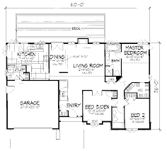 cottage floor plans one story cottage floor plans one story with loft garage house level eplans