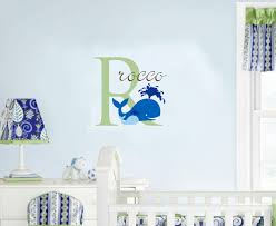 baby name nautical wall decal whale nursery decor 24 00
