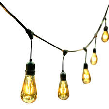 dimmable outdoor led string light ove decors 48 ft 24 oversized edison light bulbs black gold all