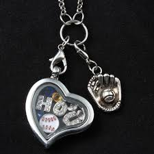 locket necklace aliexpress images Heart floating locket necklace with 80cm chain h o u baseball jpg