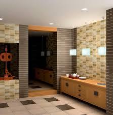 Modern Tiles Bathroom Design Easy Outside Bathroom Design Idea With Beige Tiles And Wall