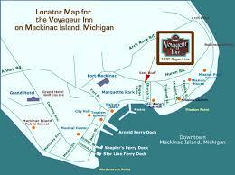 map of mackinac island the voyageur inn on beautiful mackinac island offers apartment