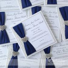 handmade wedding invitations navy wedding invite the ariel collection luxury flat