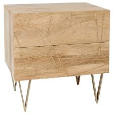 West Elm Bedside Table Buy Roar Rabbit For West Elm Geo Inlay 2 Drawer Bedside Table