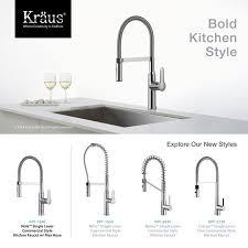 Kraus Kitchen Faucet Kraus Kpf 1640ch Chrome Nola Single Lever Flex Commercial Style