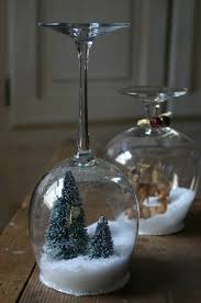 wine glass snow globes 15 diy snow globes best ideas globe paper confetti and plate