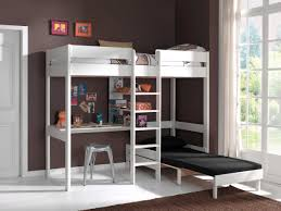 lit avec canapé lit mezzanine lena avec canapé lit blanc acheter en ligne emob