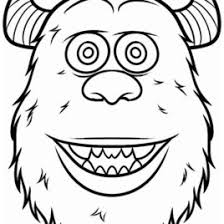 halloween monsters coloring pages zombie head monster face