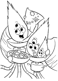 chicken little alien family colouring page colouring tube