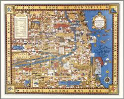 Chicago Map Poster by Chicago Gangland From Authentic Sources David Rumsey Historical