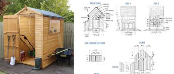 garden shed plan how to build a garden shed from scratch simple plans with lots
