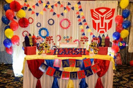transformer decorations best birthday decorations balloon decorations in bangalore evibe in