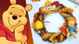 winnie pooh fall wreath disney diy disney family disney