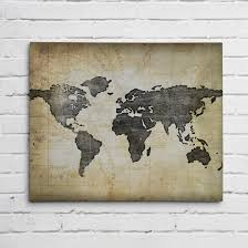 World Map Art Print by Navy Blue World Map