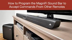 how to program the magnifi sound bar to accept commands from other