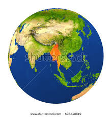 asia globe map asia globe map country different colors stock illustration