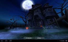 android halloween wallpaper free animated haunted house wallpaper wallpapersafari