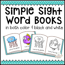 104 simple sight word books in color u0026 b w the measured mom