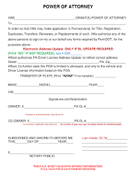 Sample Power Of Attorney Document by Free Pennsylvania Motor Vehicle Power Of Attorney Form Word