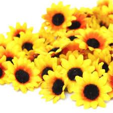 sunflowers decorations home 100pcs lifelike artificial plastic flower yellow sunflower heads