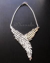 silver fashion statement necklace images Antiqued silver statement necklace angel 39 s embrace hand casted jpeg