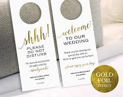 gold wedding door hanger please do not disturb door hanger