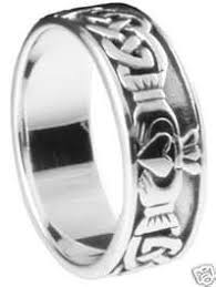 mens claddagh ring celtic mens claddagh claddaugh band ring handcrafted 925