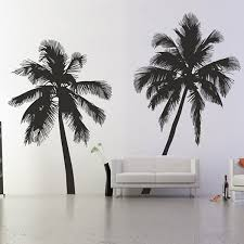 tree leaf wall stickers red candy palm tree silhouette wall stickers