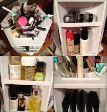 bathroom makeup storage ideas small collection and organization organize makeup in your bathroom with these 5 tricks tabletop spinning cosmetic organizer by lori greiner