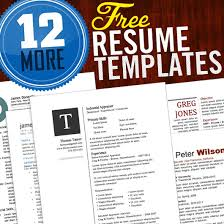 resume templates for word 12 resume templates for microsoft word free
