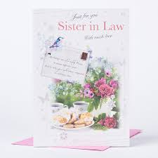 birthday card sister in law tea u0026 cake only 99p