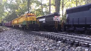 g scale trains on a sunday afternoon